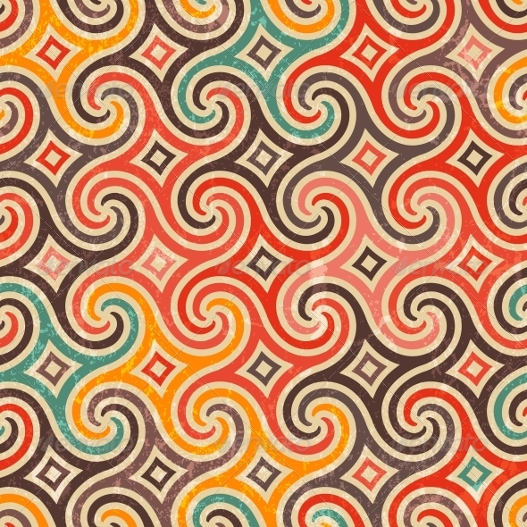 Retro Pattern with Swirls