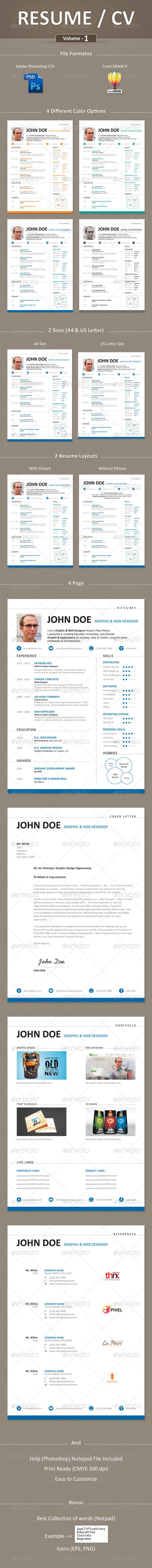 GraphicRiver Resume CV Curriculum Vitae 5584433