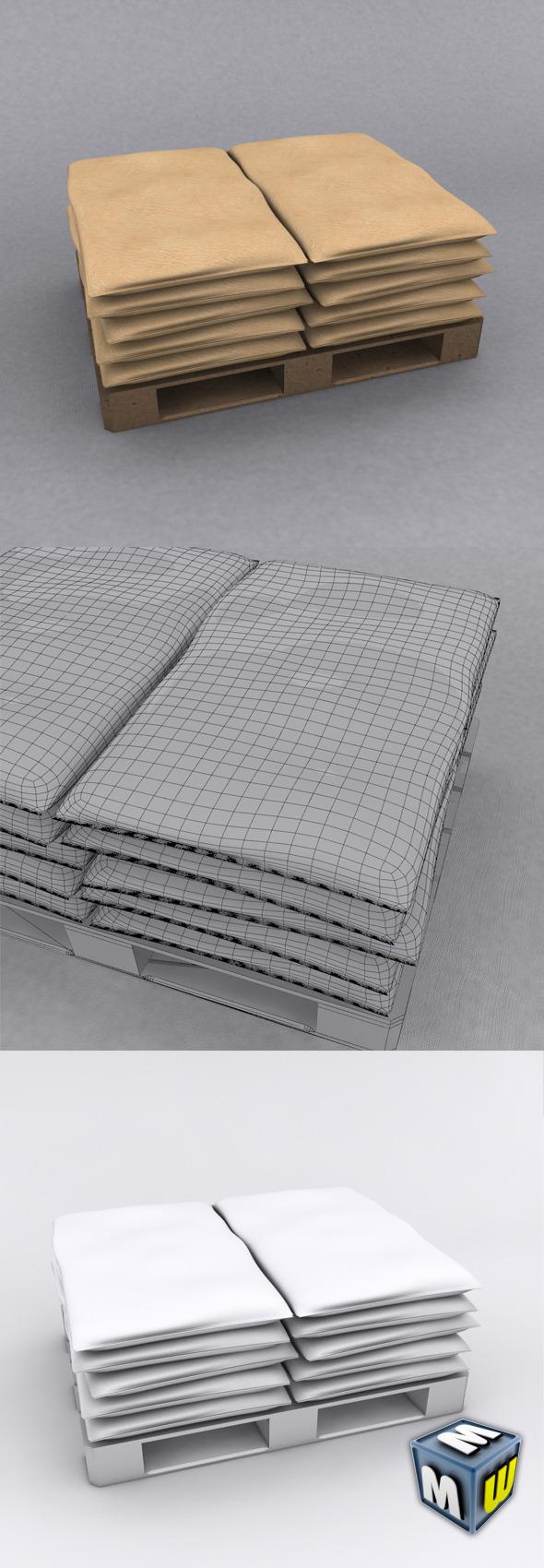 Sacks3D - 3DOcean Item for Sale