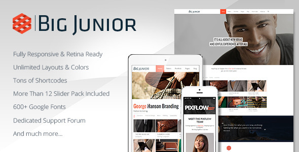 Big Junior - Multi-Purpose Responsive Theme - Corporate WordPress