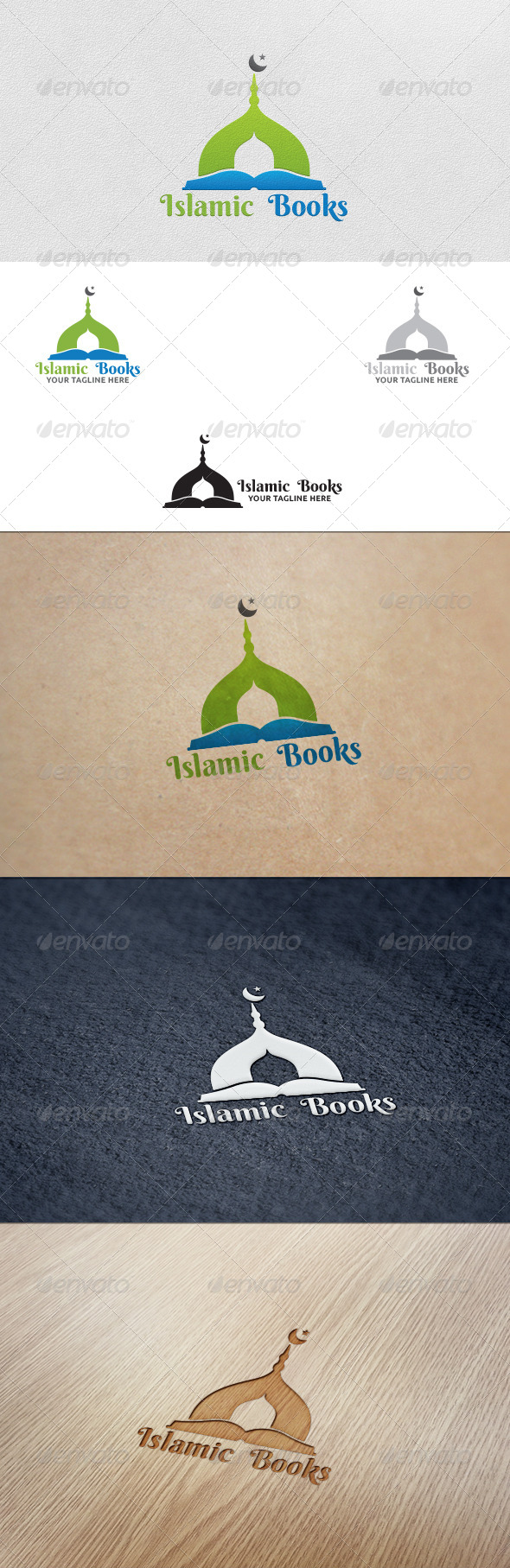Islamic Books - Logo Template