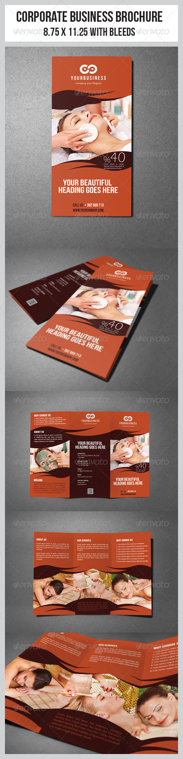 GraphicRiver Hair & Beauty Salon Business Tri-Fold Template 5658694