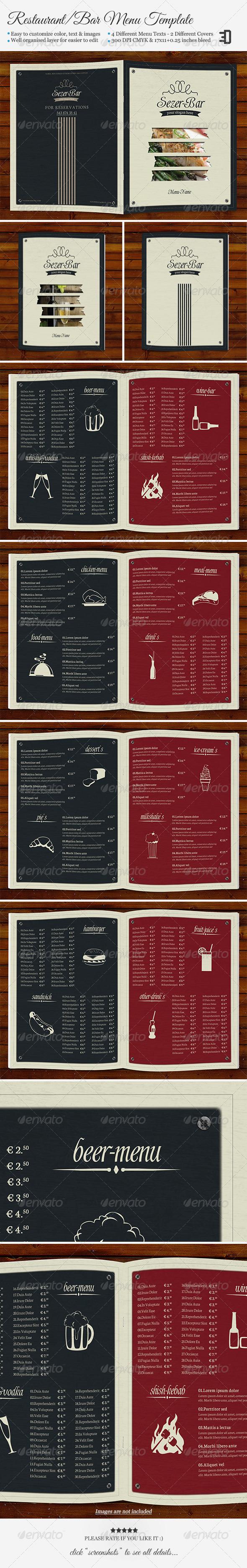 GraphicRiver Restaurant Bar Menu Template 5658695