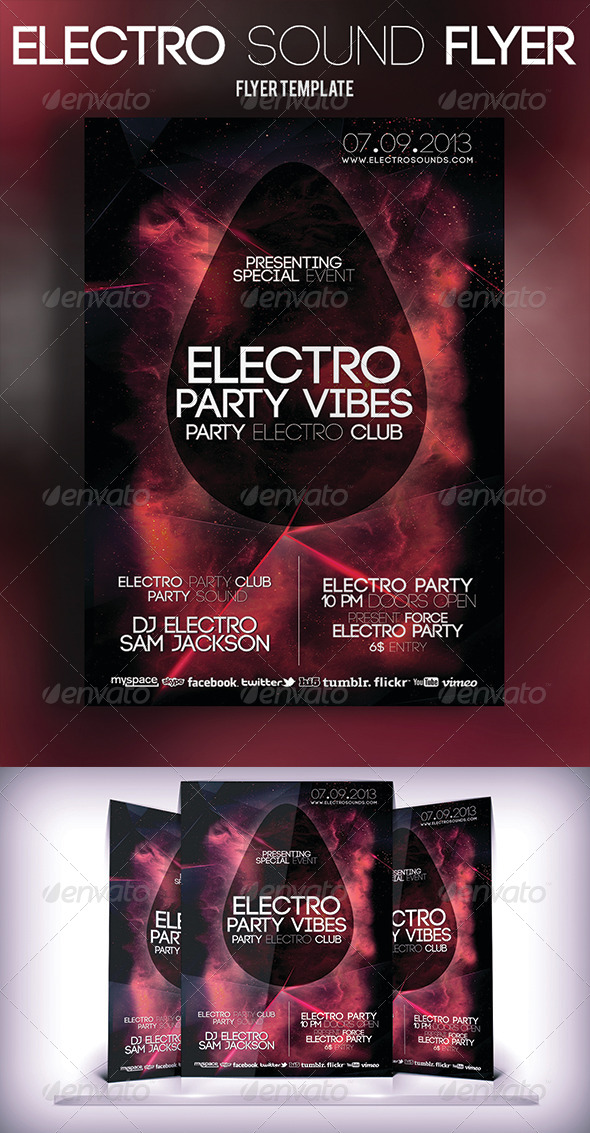 GraphicRiver Electro Sound Flyer 5659604