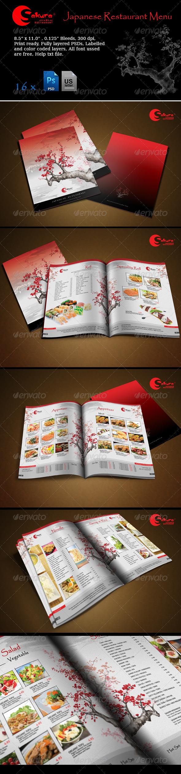 GraphicRiver Sakura Restaurant Menu 5659896