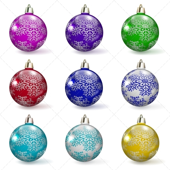Set of Christmas Balls - Christmas Seasons/Holidays