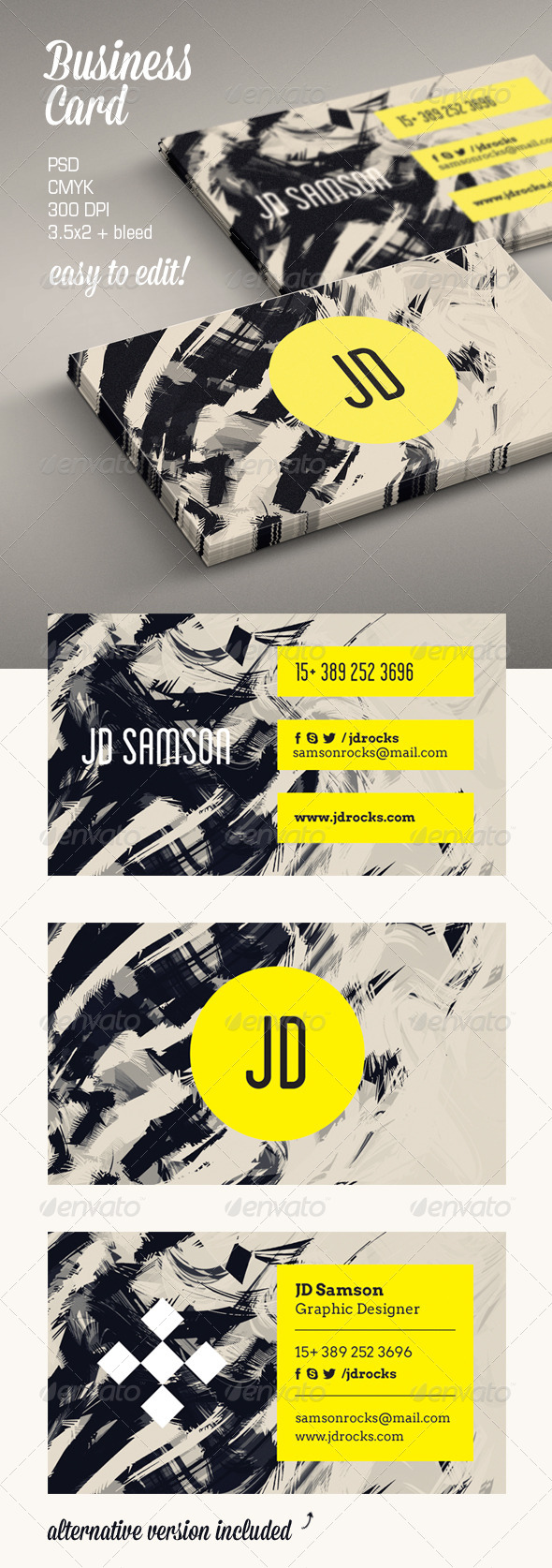 GraphicRiver Artistic Business Card 5659985