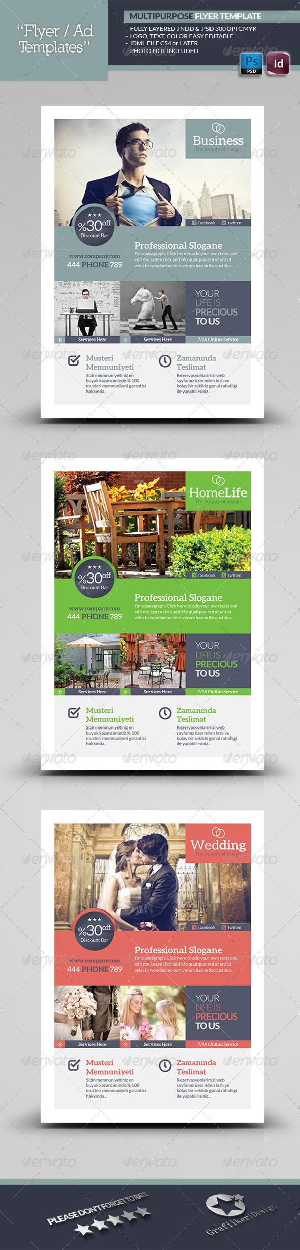 GraphicRiver Multipurpose Flyer Template 5661675