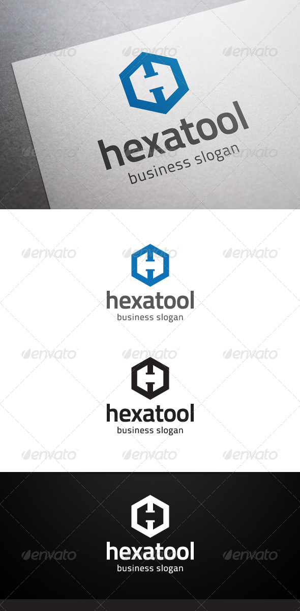 GraphicRiver Hexatool H Letter Logo 5662900