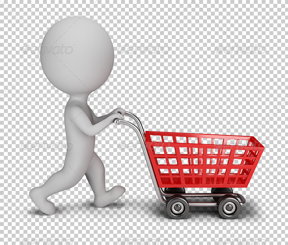 GraphicRiver 3D Small People Shopping Cart 5663046