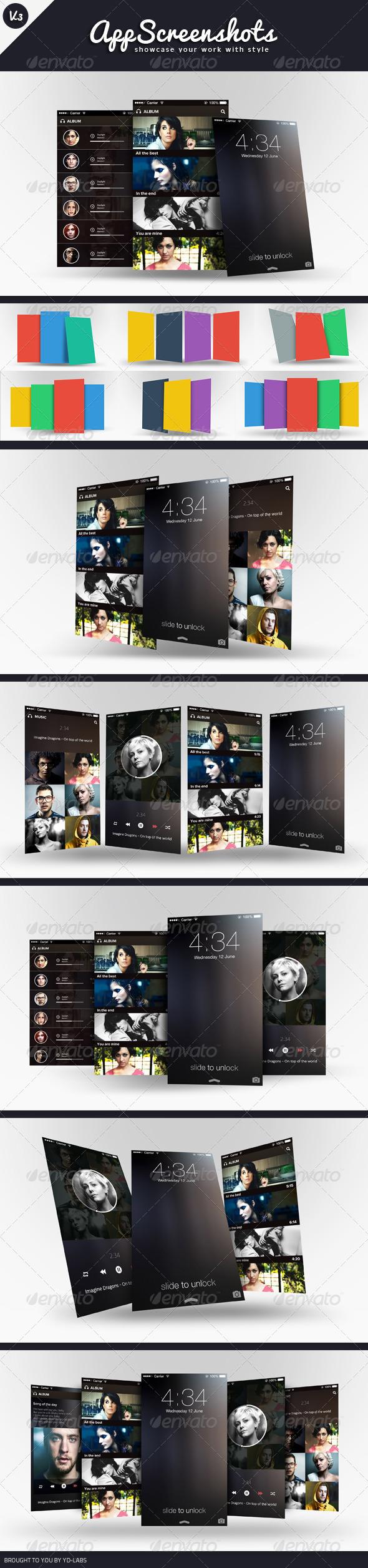 GraphicRiver App Screenshot Mockups V3 5663062