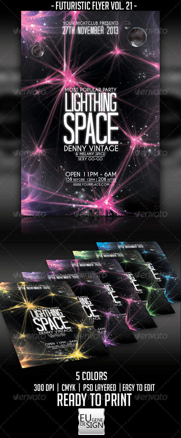 GraphicRiver Futuristic Flyer Vol 21 5663412