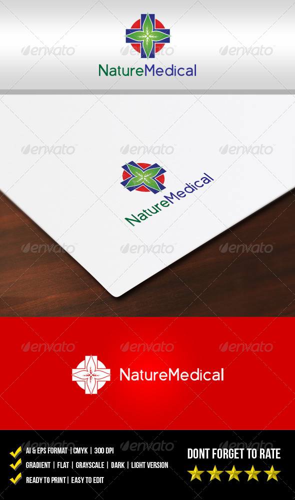GraphicRiver Nature Medical Logo 5663431