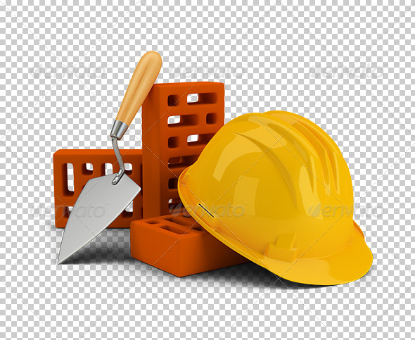 GraphicRiver Helmet with Bricks and Trowel 5663434