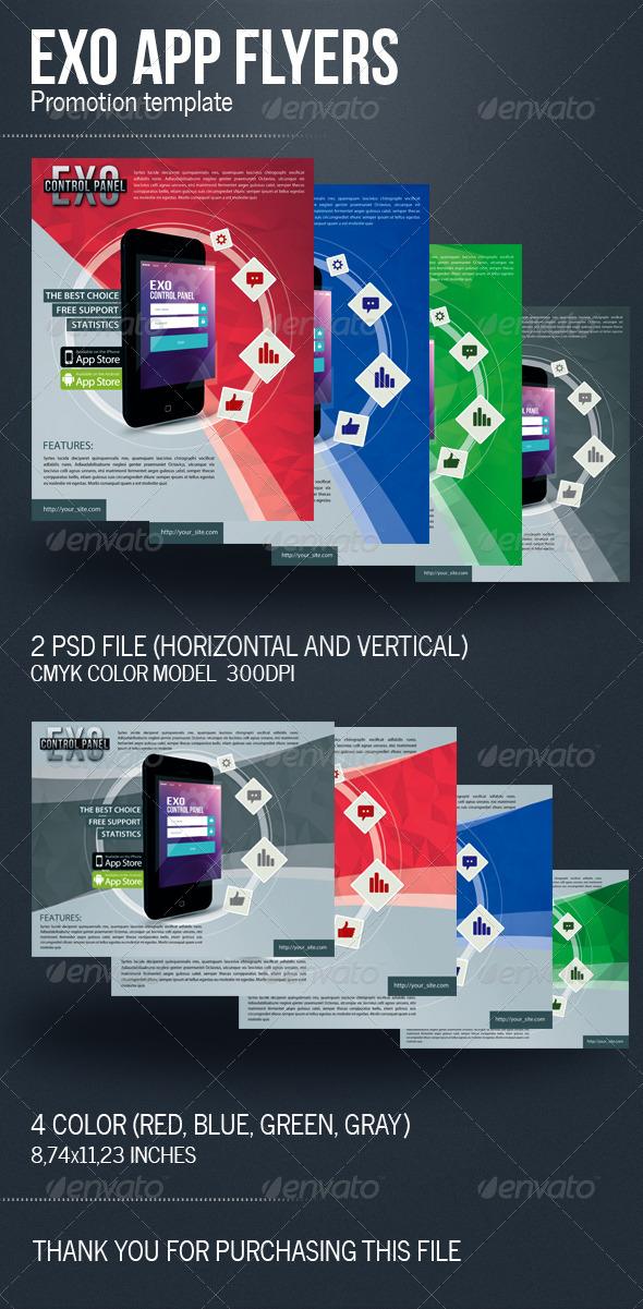 GraphicRiver Exo App Flyers 5663444