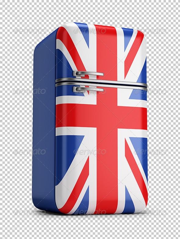 GraphicRiver British Retro Fridge 5663464