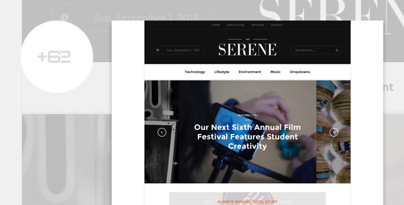 Serene - Magazine WordPress Theme