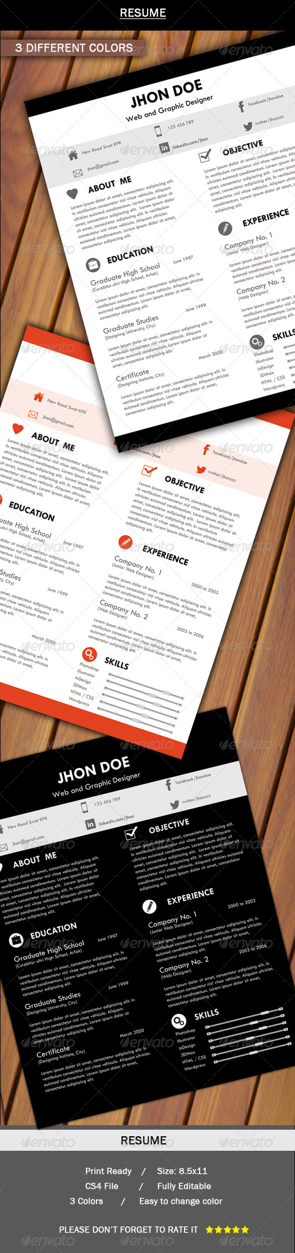 GraphicRiver Resume 5663599