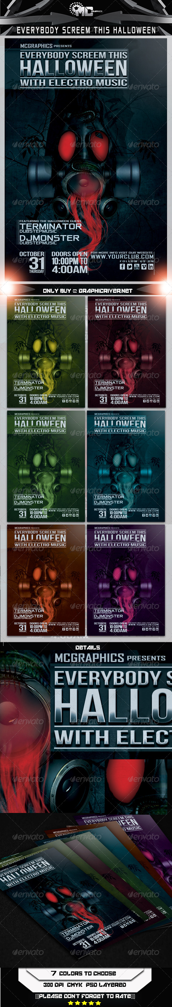GraphicRiver Everybody Screem This Halloween Flyer Template 5663803