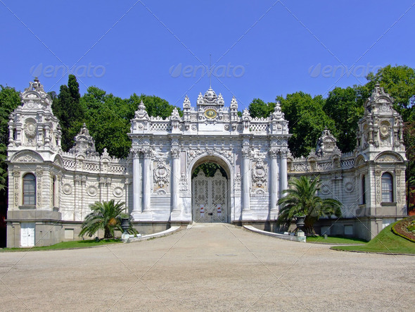 Dolmabahce palace gate - Stock Photo - Images