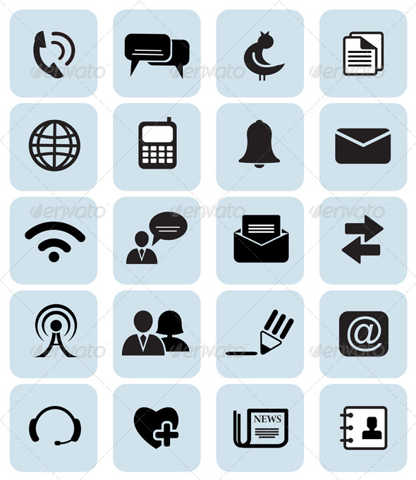 GraphicRiver Set of 20 Communication Icons 5664156