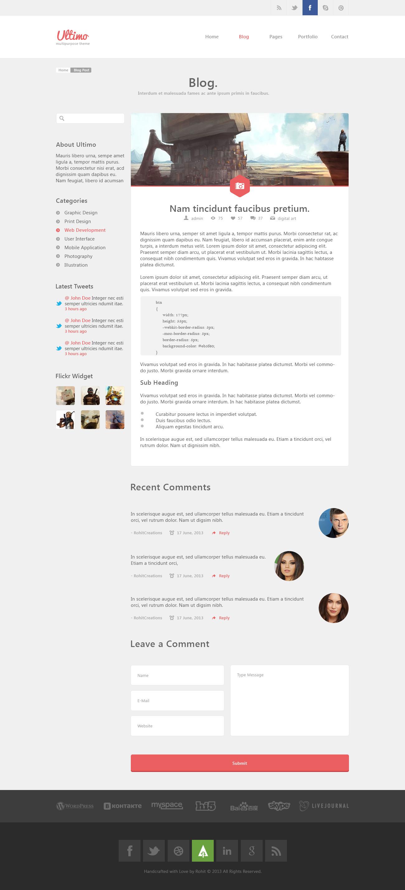 Ultimo - Multipurpose PSD Template