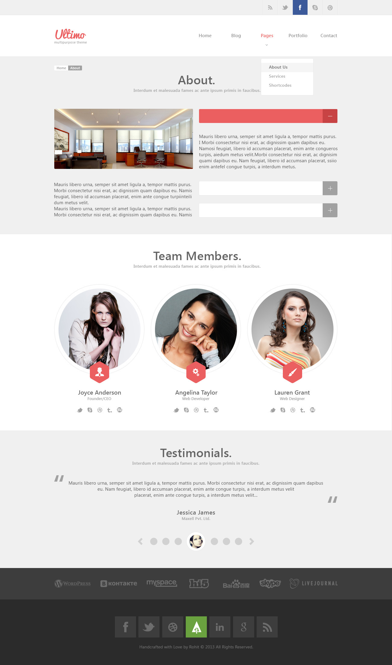Ultimo - Multipurpose PSD Template