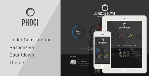 Phoci - Responsive Photography Coming Soon Theme - Under Construction Specialty Pages