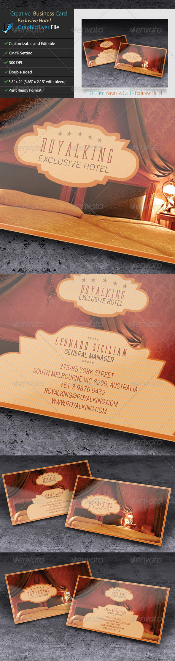 Creative business card Exclusive Hotel