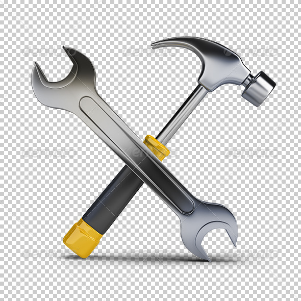 GraphicRiver Hammer and Wrench 5664462