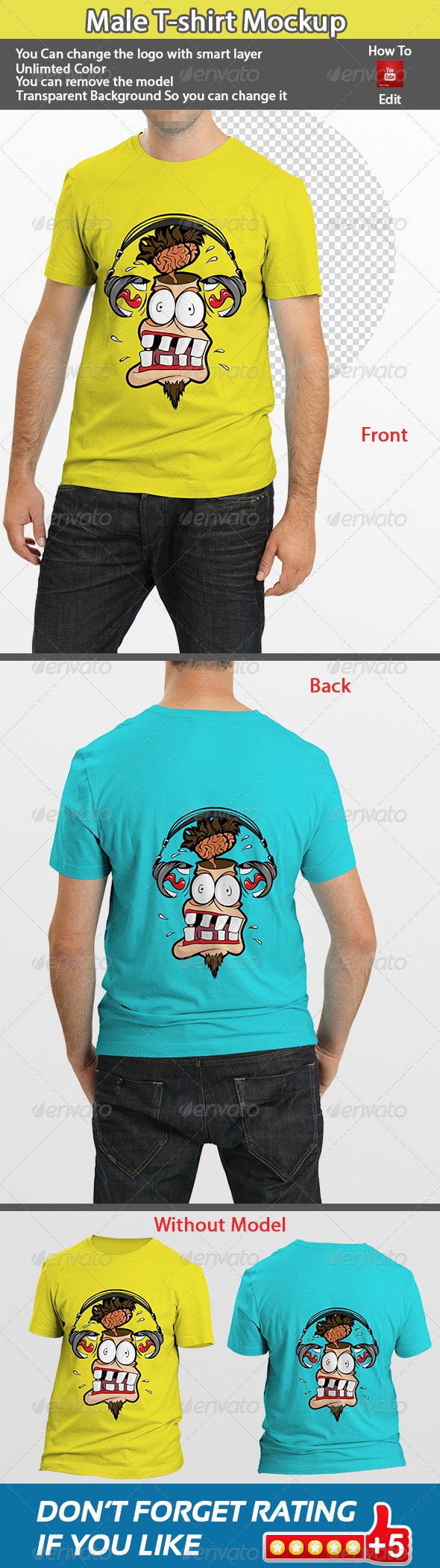 GraphicRiver Male T-shirt Mock-Up 5664565