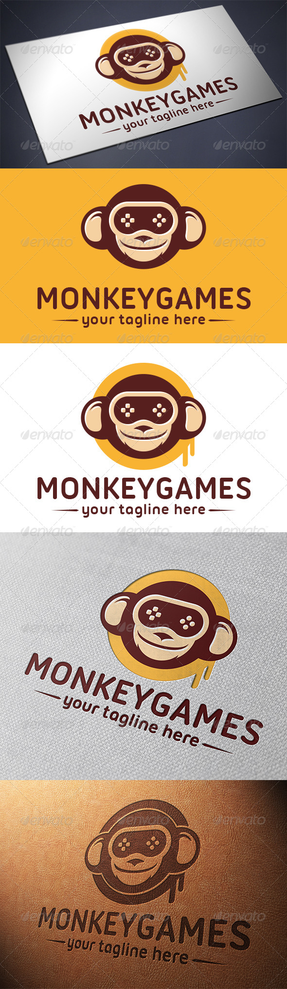 Monkey Game Logo Template