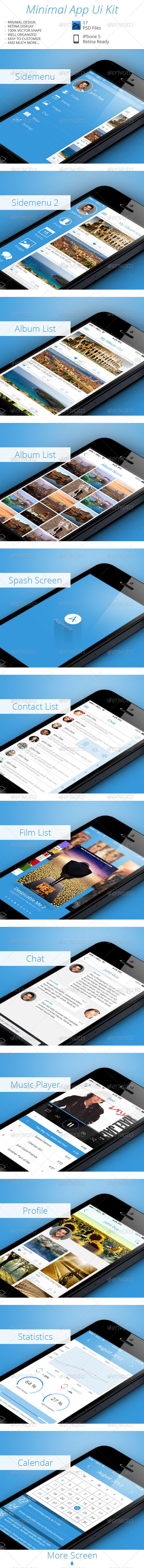 GraphicRiver Minimal App UI Kit 5656803