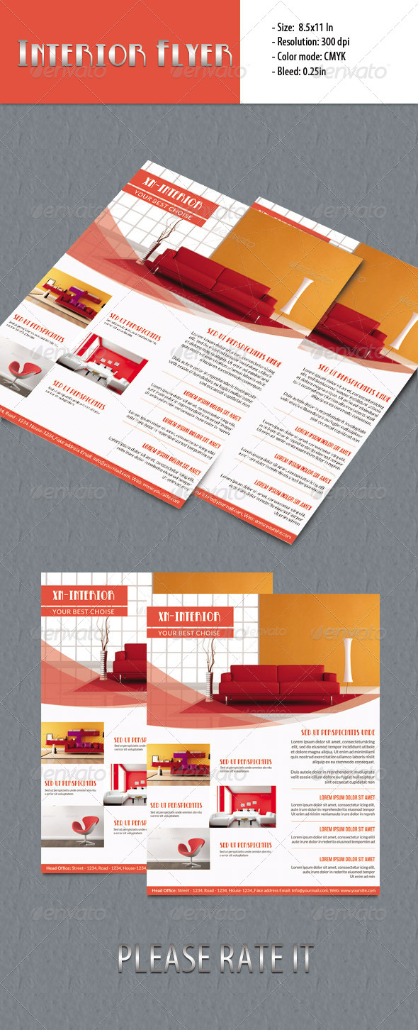 GraphicRiver Minimal Flyer-Interior Design 5665375