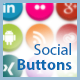 Social CSS Buttons with Tooltip