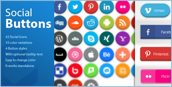 Social CSS Buttons with Tooltip - CodeCanyon Item for Sale