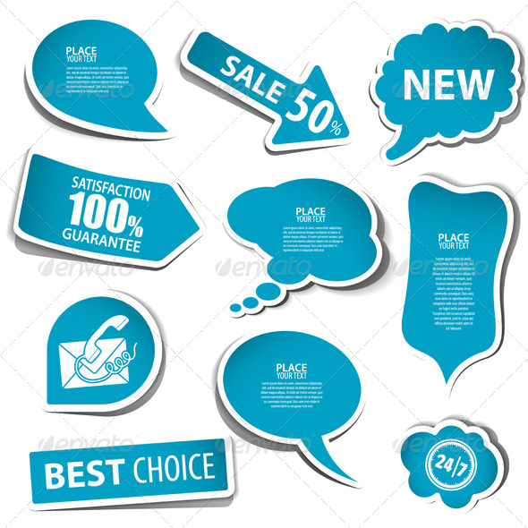 Speech Bubbles - Retail Commercial / Shopping