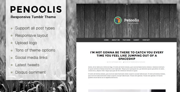 ThemeForest Penoolis Responsive Tumblr Blog Themes 5666121