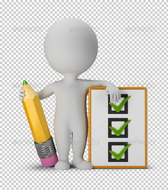 GraphicRiver 3D Small People with Clipboard and Pencil 5666306