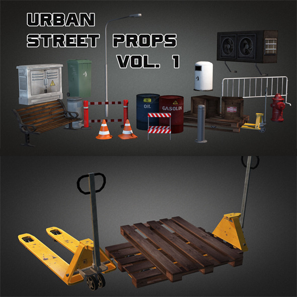 3DOcean Urban Street Props Vol 1 5666377