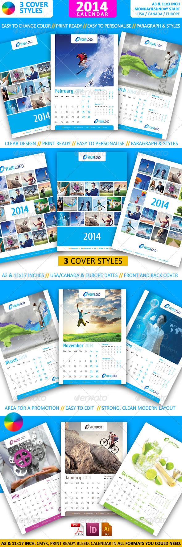 GraphicRiver Calendar 2014 A3 5666456