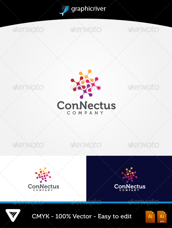 GraphicRiver Connectus Logo 5666517