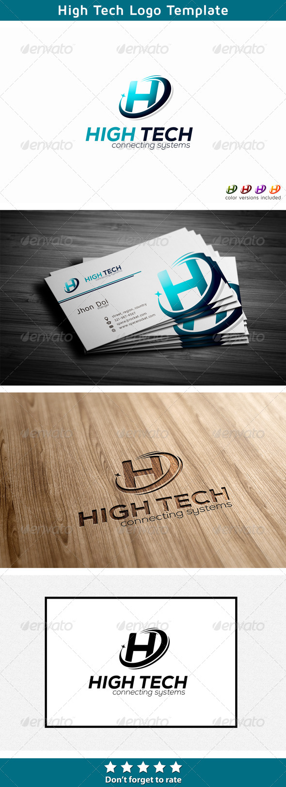 GraphicRiver Letter H Technology Logo 5666971
