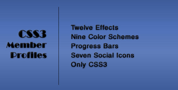 CodeCanyon CSS3 Member Profiles with Animated Progress Bars 5667230