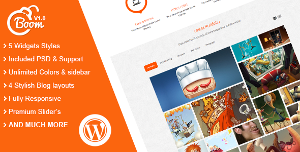 ThemeForest Boom Responsive Multi-Purpose WordPress Theme 5667671