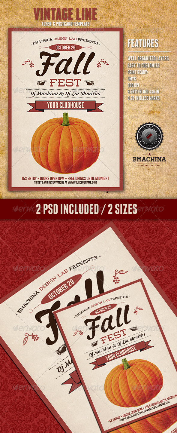 GraphicRiver Fall Fest Flyers 5667717