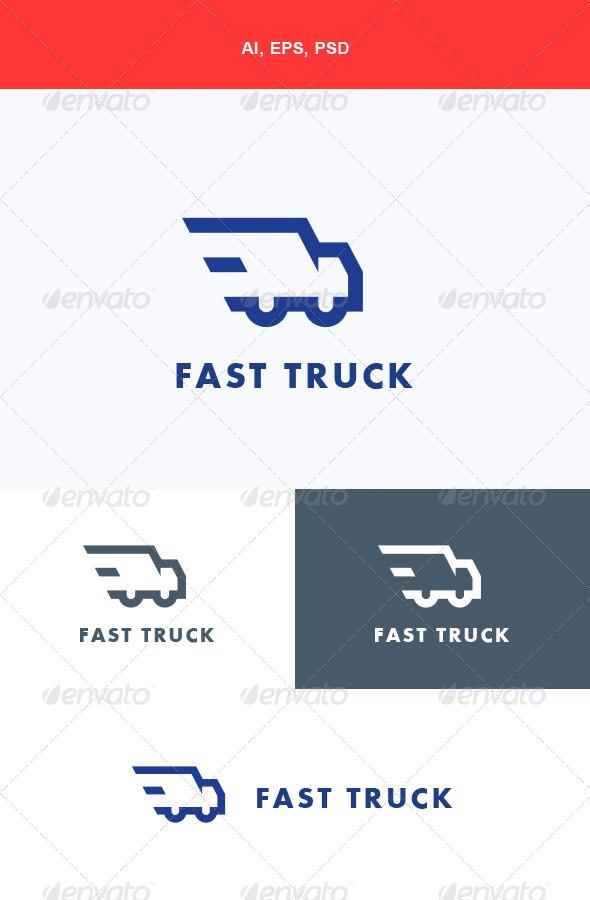 GraphicRiver Fast Truck Logo 5668334