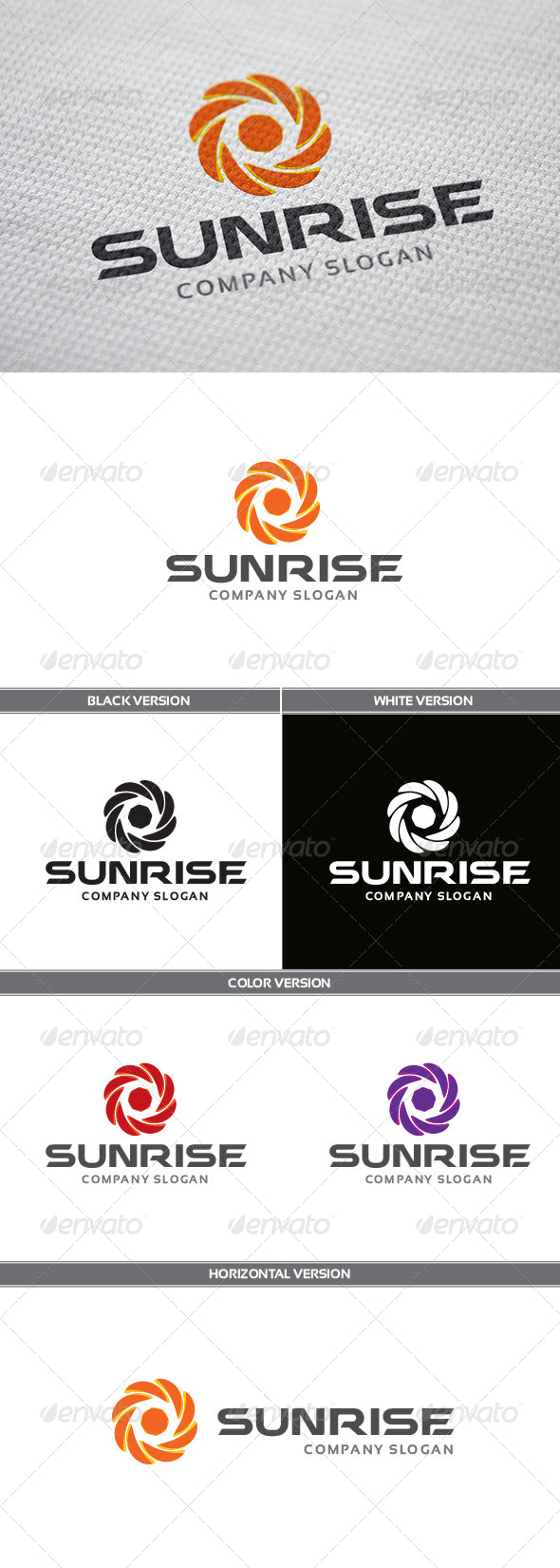 GraphicRiver SunRise Logo 5668504
