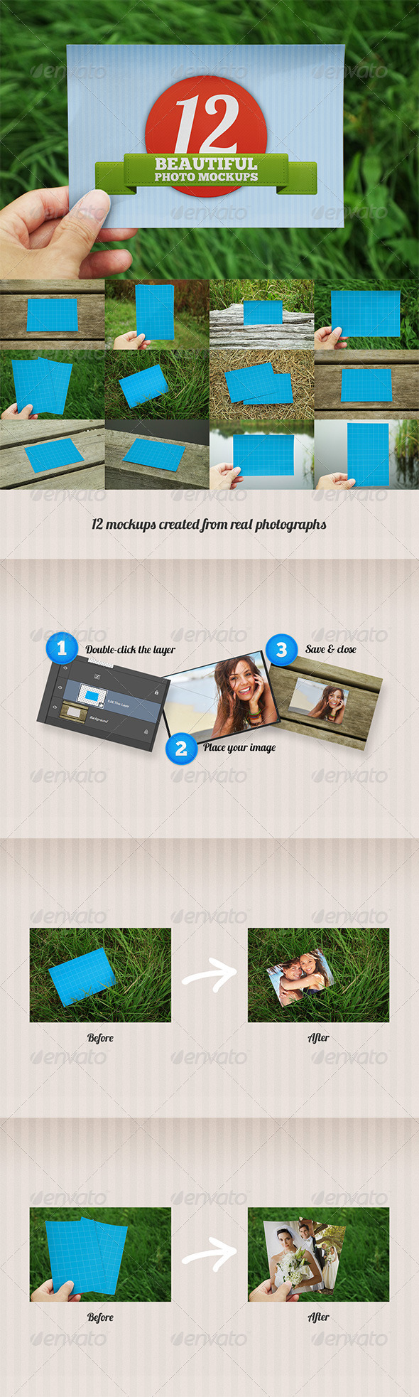 12 Beautiful Photo Mockups - Miscellaneous Print