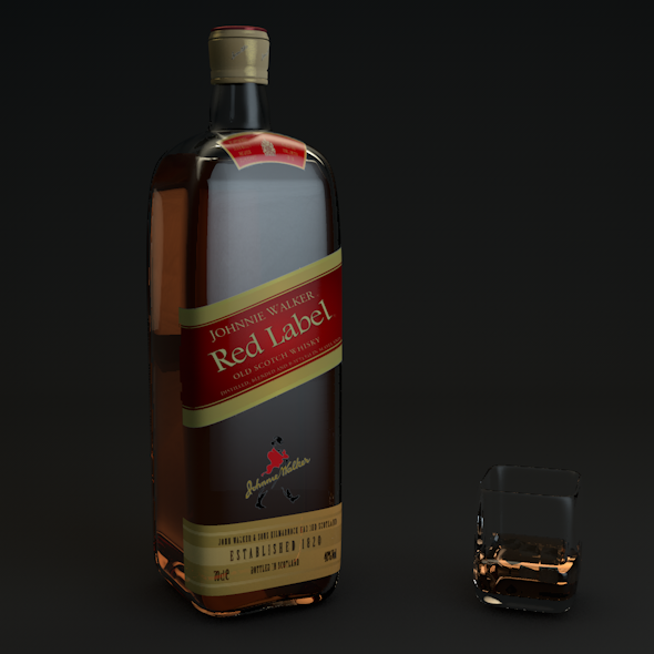 Johnnie Walker Red Label  - 3DOcean Item for Sale